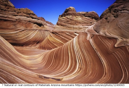 7 Natural or real contours of Materials Arizona mountains