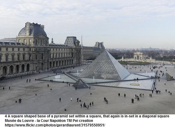cour napoléon du musée du louvre avec pyramide 75001