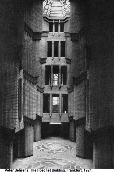 21 Behrens Hoechst administration offices 1920-27, central hall elevations