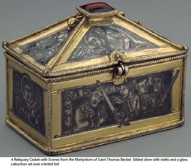 4 Reliquary Casket with Scenes from the Martyrdom of Saint Thomas Becket